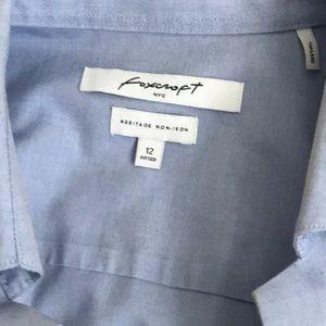 Foxcroft Tops - Foxcroft NYC No-Iron Button Down Size 12